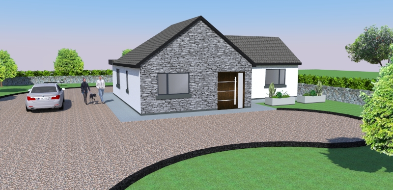 Killorglin: renovation and extension to a 1970's house